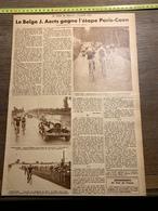 1932 1933 M PARIS CAEN VELODROME MORTAIN SORTIE DE FOUGERES GEYER ERNE - Old Paper