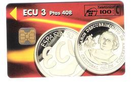 Spain - P 043  01.94 - ECU 3 - Christoph Kolumbus Columbus Coin Münze - Private Card - Mint - Privé-uitgaven