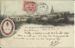 * Vue Générale De SAINT MAIXENT , + PUB: BIERE BOCK , Brasserie Française De Saint Maixent , 1906 - Saint Maixent L'Ecole