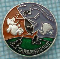 USSR / Soviet Union / Badge / RUSSIA. Fairy Tale. Cockroach. Fauna. Elephant. Hippo. - Animali