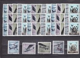 España Nº 1401 Al 1405 - 10 Series - 1961-70 Nuevos & Fijasellos
