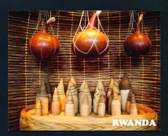 RWANDA - Local Milk Jugs And Churns Used Postcard As Scans - Rwanda