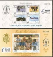 1996-ED. 3428 Y 3433 H.B.-ESPAMER'96-FAMILIA REAL-AVIACIÓN Y ESPACIO-NUEVO- - Blocks & Sheetlets & Panes