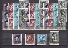 España Nº 1434 Al 1437 - 10 Series - 1961-70 Nuevos & Fijasellos