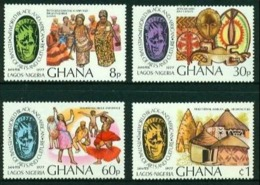 "-Ghana-1977- ""Black Art & Culture"" (*) - Ghana (1957-...)"