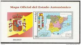 1996-ED. 3460 H.B.- MAPA ESTADO AUTONOMICO -NUEVO- - Blocs & Hojas