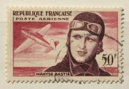 Timbre France Poste Aérienne YT 34 (°) Obl 1955 Maryse Bastié (côte 5,35 Euros) – 184c - 1927-1959 Afgestempeld