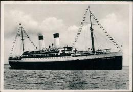 Ansichtskarte  Motorschiff Schiff Ship Dampfer Steamer MONTE SARMIENTO 1937 - Dampfer