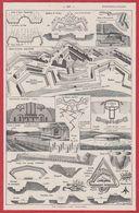 Fortifications Militaires. Fortification. Vauban. Moderne. Illustration P De Laubadère. Larousse 1931. - Documenti Storici
