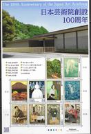 JAPAN, 2019, MNH, ART, 100TH ANNIVERSARY OF JAPAN ART ACADEMY, PAINTINGS, HORSES, MOUNTAINS,  SHEETLET - Art