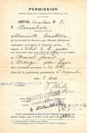 63-cachet Hôpital Aux N°2 De Chamalières  Sur Permission Pour Une Infirmière En 14/18 - Poststempel (Briefe)