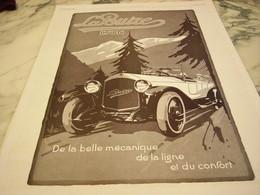ANCIENNE PUBLICITE VOITURE LA BUIRE DE LYON  1922 - Reclame