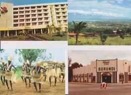Bujumbura, Burundi 4 Cartes. - Burundi