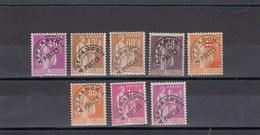 France - 1922-47 - Préobl. - 70**à 77**  - Type Paix - Cote 457€ - Preobliterati