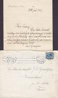 Denmark PETERSHOLM Pr. Horsens Stjernestempel Star Cds. EGEBJERG Pr. HORSENS 1921 Cover Brief Nr. ALSLEV Falster - 1913-47 (Christian X)