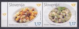 Slovenia Slowenien Slovenie: 2019 Mint MNH **; Gastronomy Gastronomie Food; Traditional Food; Bloke And Karst Reagion - Food