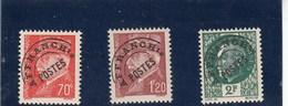France - 1922-47 - Préobl. - 84**à 86**  - Type Pétain - Preobliterati