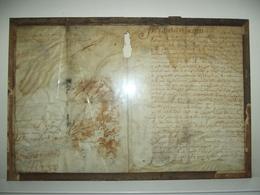 Parchemin Daté 1644 à Identifier Vendu En L'état - Unclassified