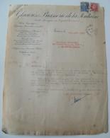 Lettre Glacières Et Brasserie De La Fontaine Nîmes 1947 Timbre 4,50 Frs 1 Frs - France