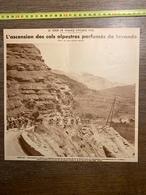 1932 1933 M CYCLISME COLS ALPESTRES COL D ALLOS BARRAL BENOIT FAURE - Vieux Papiers