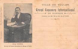 CPA Toulon - Grand Concours International De Musique - Elie Lions - Toulon