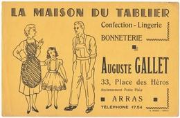 BUVARD. ARRAS (62) LA MAISON Du TABLIER. CONFECTION-LINGERIE AUGUSTE GALLET. - Textilos & Vestidos