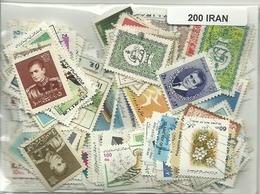 Lot De 200 Timbres D'Iran - Iran