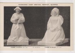 CPA-29-Finistère- Faiencerie D'Art Breton Henriot, QUIMPER- Femme D'Auray- Femme De Baud- - Quimper