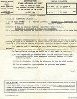 Document: Guerre 1914/1918 - Décision De Rejet Pour Un Invalide. Mr Charles ALEXANDRE Chartres. - Documentos