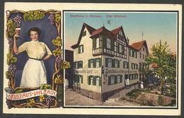 Gruss Aus Uhlbach, Gasthaus Z. Ochsen, (nun Stadtteil Von Stuttgart), Karte Aus 1926, Stempel Obertürkheim, Nach Holland - Stuttgart