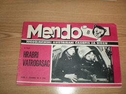 Teddy Bear Mendo Jugoslavenski Ilustrovani Casopis Za Decu Zagreb 1964 Illustrated Children Magazine Strip 23 Pages - Scandinavian Languages
