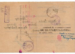 12.04.1945. YUGOSLAVIA,SERBIA,MILITARY POST,16TH DIVISION TO VRSAC, LETTER - Covers & Documents