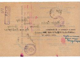 12.04.1945. YUGOSLAVIA,SERBIA,MILITARY POST,16TH DIVISION TO VRSAC, LETTER - 1945-1992 Socialist Federal Republic Of Yugoslavia