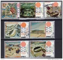 Winter Olympiade Sapporo 1972 Jemen 1250/6 O 2€ Landkarte City Olympia-Dorf Piste Schanze Stadion Olympics Of Yemen - Yemen