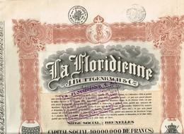 Titre Ancien - La Floridienne - J. Buttgenbach & Cie - Société Anonyme -Titre De 1927 - - Industrie