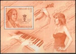 Belgium**Reine Elisabeth Concours Musique-Violon-Piano-SHEET/Bloc-MNH-Chanteuse-2001 - Belgique