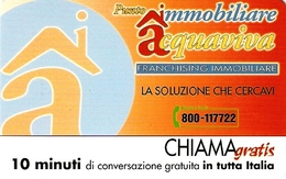 *CHIAMAGRATIS - N.433 - IMMOBILIARE ACQUAVIVA* - Scheda NUOVA (MINT) (DT) - Italia