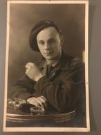 Photo Ancienne Jeune Militaire  STUDIO BULTREYS ATH - Guerre, Militaire