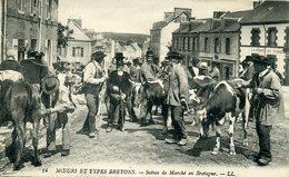 56 - GROIX - Cachet 1915 - Scène De Marché En Bretagne. - Groix