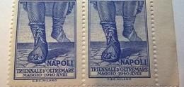 ERINNOFILI VIGNETTE CINDERELLA - TRIENNALE OLTREMARE NAPOLI 1940 - Erinnofilia