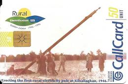 CARTE-PUCE-IRELANDE-GEMB-50U-1996-RURAL ELECTRIFICATION 50 ANS-Utilisé-TBE - Irlande