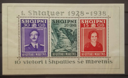 ALBANIA 1938 - MNH - Sc# 298, Mi Block 3 - 1. Shtatuer 1928-1938 - Albanië