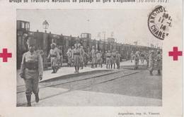 CPA Angoulême - Groupe De Tirailleurs Marocains De Passage En Gare D'Angoulême (19 Août 1914) (très Belle Animation) - Angouleme