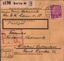 ! 1934  Paketkarte Deutsches Reich, Berlin SO 93 - Alemania