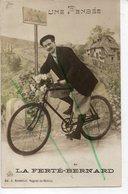 LA FERTE-BERNARD UNE PENSEE ( Cycliste)  CARTE FANTAISIE - La Ferte Bernard