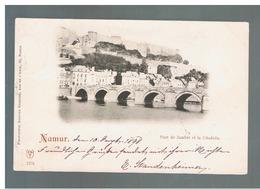 JM01.12 / CPA / NAMUR - LE PONT DE JAMBES ET LA CITADELLE / AUTRE CARTE PRECURSEUR DE ...1898  - VERS MAINZ - Namur