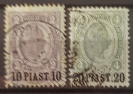 AUSTRIAN POST IN TURKEY 1900 - Canceled - ANK 37, 38 - Oblitérés