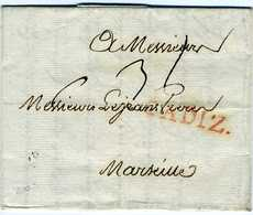 ESPAÑA    CADIZ  1787    Hasta Marseille  - Ver Texto  PRE8 - Espagne