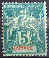 GUYANE                         N° 33                    OBLITERE - Usados