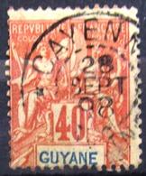 GUYANE                         N° 39                    OBLITERE - Usados